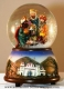 Christmas musical snow globe made of polystone with traditional 18 note musical mechanism - Item# for this Christmas musical snow globe : 49024
