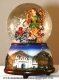 Christmas musical snow globe made of polystone with traditional 18 note musical mechanism - Item# for this Christmas musical snow globe : 49025