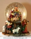 Christmas musical snow globe made of polystone with traditional 18 note musical mechanism - Item# for this Christmas musical snow globe : 49026