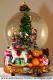Christmas musical snow globe made of polystone with traditional 18 note musical mechanism - Item# for this Christmas musical snow globe : 49023