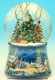 Christmas musical snow globe made of resin with traditional 18 note musical mechanism - Item# for this Christmas musical snow globe : 48083
