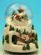 Christmas musical snow globe made of polystone with electronic musical mechanism - Item# for this Christmas musical snow globe : 48053