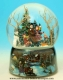 Christmas musical snow globe made of resin with traditional 18 note musical mechanism - Item# for this Christmas musical snow globe : 48041