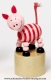 Wooden push up toy : wooden push up pig - Item # for this wooden push up toy : 53959-2