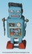 Mechanical vintage Tin Toy robot made of metal (steel) - Item# for this mechanical Tin Toy robot made of metal (steel) : 601472