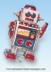 Mechanical vintage Tin Toy robot made of metal (steel) - Item# for this mechanical Tin Toy robot made of metal (steel) : 601413
