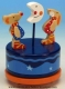Animated musical toy made of wood with traditional 18 note musical mechanism - Item # for this animated musical toy : 43763
