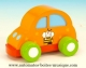 Children's music box : animated orange musical car with traditional 18 note pull string musical mechanism - Item# for this animated musical car : 43794
