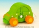Children's music box : animated light green musical car with traditional 18 note pull string musical mechanism - Item# for this animated musical car : 43796