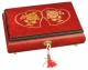 Lutèce Créations musical jewelry box made of wood with traditional 18 note musical mechanism - Item # for this Lutèce Créations musical jewelry box : CO.18.7003