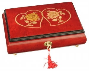 Lutèce Créations musical jewelry box made of wood with traditional 30 note musical mechanism - Item # for this Lutèce Créations musical jewelry box : CO.30.7003