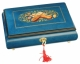 Lutèce Créations musical jewelry box made of wood with traditional 30 note musical mechanism - Item # for this Lutèce Créations musical jewelry box : IM.30.7002