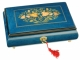 Lutèce Créations musical jewelry box made of wood with traditional 30 note musical mechanism - Item # for this Lutèce Créations musical jewelry box : FL.30.7002