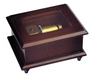 Swiss music box made of wood with a 18 note musical mechanism - Item # for this swiss music box : 2023501