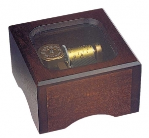 Swiss music box made of wood with traditional 18 note musical mechanism - Item # for this swiss music box : 2096501