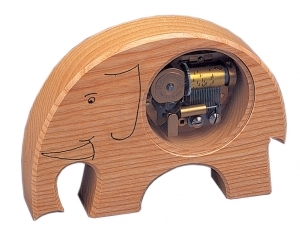 Swiss music box made of wood with a 18 note musical mechanism - Item # for this swiss music box : 2001411