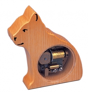 Swiss music box made of wood with a 18 note musical mechanism - Item # for this swiss music box : 2001811