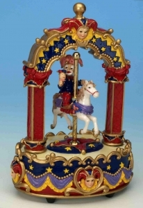 Musical automaton with jester made of resin (traditional 18 note musical mechanism included) - Item# for this musical automaton : 14100