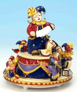 Musical automaton made of resin with traditional 18 note musical mechanism - Item# for this musical automaton : 14096