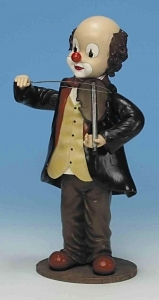 Musical clown automaton with traditional 18 note musical mechanism - Item# for this musical automaton : 25074
