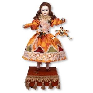 Musical automaton made of porcelain with traditional 36 note spring musical mechanism - Item# for this musical automaton : AU.001