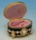 Music box made of metal and glass with traditional 18 note musical mechanism - Item # for this music box : 23850