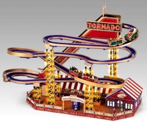 Miniature musical amusement park attraction made by Mr Christmas with electronic musical mechanism - Item # for this miniature musical amusement park attraction made by Mr Christmas : 79811