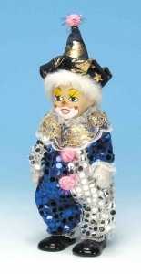 Musical clown automaton with traditional 18 note spring musical mechanism - Item# for this musical automaton : 20221