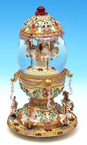 Musical snow globe made of resin with traditional 18 note spring musical mechanism - Item # for this musical snow globe : 14046