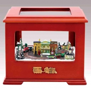Mr Christmas animated music box with traditional 18 note musical mechanism - Item # for this Christmas animated music box made by Mr Christmas : 14633