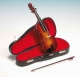 Miniature musical instrument made of wood with traditional 18 note musical mechanism - Item # for this miniature musical instrument : 16092
