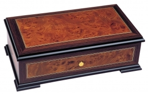 Swiss music box made of wood with traditional 50 note musical mechanism - Item # for this swiss music box : 2029301