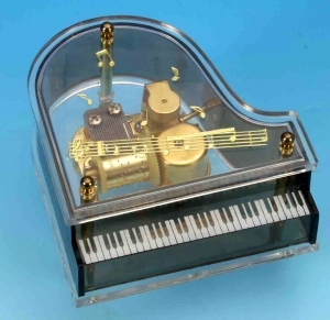 Miniature musical instrument made of resin with traditional 18 note musical mechanism - Item # for this miniature musical instrument : 10102