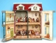 Wooden musical house with automatons made of polystone (This musical house contains a traditional 18 note musical mechanism) - Item# for this musical house with automatons : 45071