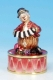 Musical clown automaton with traditional 18 note spring musical mechanism - Item# for this musical clown automaton : 25039