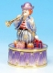 Musical clown automaton with traditional 18 note spring musical mechanism - Item# for this musical clown automaton : 25038