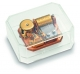 Reuge paper weight music box made of plexiglass with 22 note swiss musical mechanism - Item # for this Reuge paper weight music box : RXA.22.2707.000