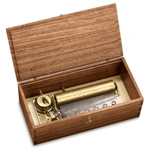 Reuge music box made of wood with traditional swiss 72 note musical mechanism - Item # for this Reuge music box : AXA.72.5313.000