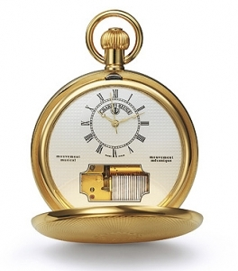 Reuge musical pocket watch with 17 note miniature musical mechanism - Item# for this Reuge musical pocket watch : CXH.17.2000.001