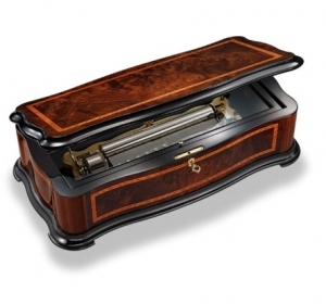 Reuge music box made of wood with traditional swiss 144 note musical mechanism - Item # for this Reuge music box : AXA.14.8003.000