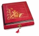 Lutèce Créations musical jewelry box made of wood with traditional 18 note musical mechanism - Item # for this Lutèce Créations musical jewelry box : AN.18.5103