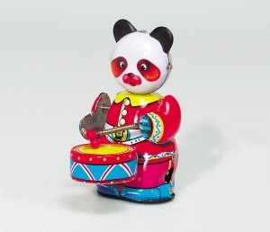 Collectable mechanical Tin Toy made of sheet metal and tin - Item # for this mechanical Tin Toy made of steel : MS 566