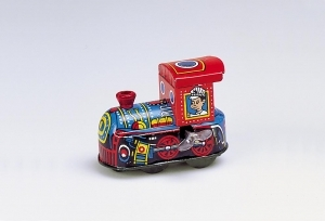 Collectable mechanical Tin Toy made of sheet metal and tin - Item # for this mechanical Tin Toy made of steel : MS 237