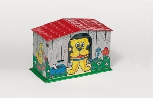 Collectable mechanical Tin Toy made of sheet metal and tin - Item # for this mechanical Tin Toy made of steel : 14106
