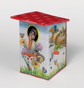 Collectable mechanical Tin Toy made of sheet metal and tin - Item # for this mechanical Tin Toy made of steel : 14101