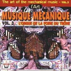 Audio CD of mechanical music instrument : audio CD of Fun fair organ - Item # of this audio CD of mechanical music instrument : CD-04