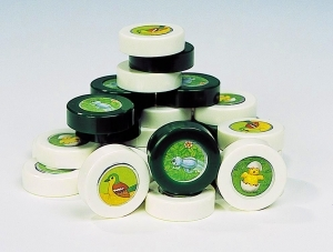 Set of 3 animal sound boxes made of plastic with batteries included - Item # for this set of 3 animal sound boxes : EL008