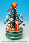 Animated Christmas tree music box with traditional 18 note musical mechanism - Item # for this animated Christmas tree music box : 50060