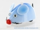 Automaton, mechanical walking animal made of plastic : blue mouse with winding key - Item# for this automaton, mechanical walking animal : SOURIS-04