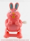 Mechanical automaton, jumping animal : pink rabbit - Item # for this mechanical automaton made of resin : AAS-05